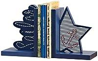 ブックエンドブックエンド子供用ブックエンド木製オーシャンテーマブックエンドホームデコレーション子供部屋デスクトップデコレーション(カラー:ブルーサイズ:13 * 10 * 16cm)-13 * 10 * 16cm_青い