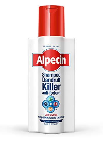 Alpecin Killer Shampoo Antiforfora, 1 x 250 ml – Lo shampoo che elimina e previene la formazione di nuova forfora.