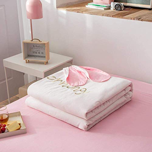WLD Summer Air-Conditioning Quilt Quilt Die Summer All Cotton Air Conditioner wird von Summer-150 * 200Cm_Plum Color gesteppt,Rosa,220 * 240 cm