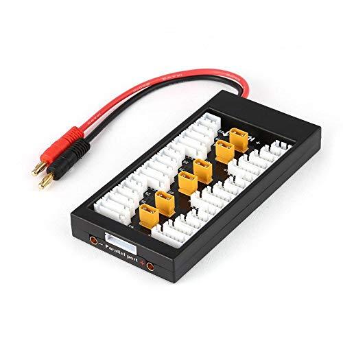 Favrison XT30 Plug 2S-6S 40A Lipo batería paralela placa de carga de batería Chager con conector banana