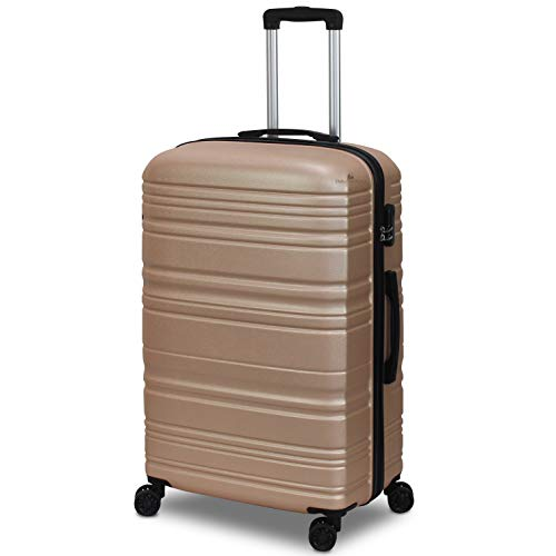 ORMI Set 3 Trolley Con 8 RUOTE Autonome in ABS Rigido Con Bagaglio a Mano Mod.: 2026 (Bronzo)