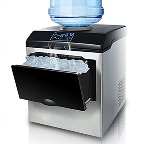 Encimera para fabricar hielo, máquina automática para fabricar hielo de 25 kg, máquina para fabricar cubitos de hielo de 220 V, 12 cubos listos en 8-12 minutos, pala de hielo para cocina en casa