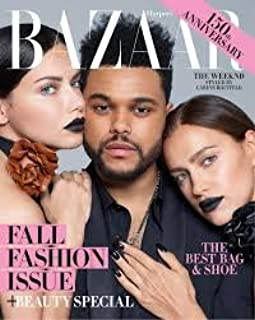 Harper's Bazaar Magazine (September, 2017) The Weeknd, Adriana Lima and Irina Shayk Cover