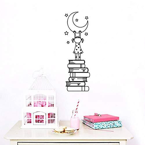 FOMBV Muursticker boek is de ladder van waterdichte muurstickers muur decor voor woonkamer slaapkamer muur kunst sticker muurschilderingen