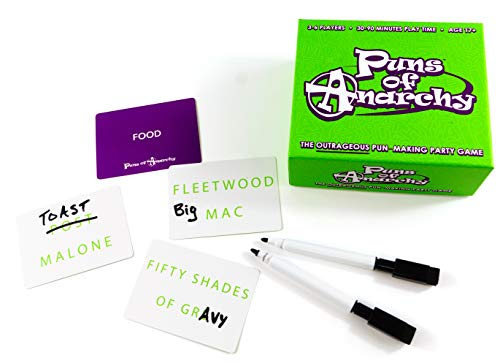 Puns of Anarchy - The Outrageous Pun-Making Game. No Bands, Movies, or Famous Things are Safe from Becoming Hilarious Wordplay.