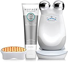 NuFACE Red Light Facial Toning Kit | Trinity Facial Toning Device + Red Light Wrinkle Reducer Attachment | Skin Care Device to Lift, Smooth Skin + Reduce Look of Wrinkles | FDA-Cleared At-Home System