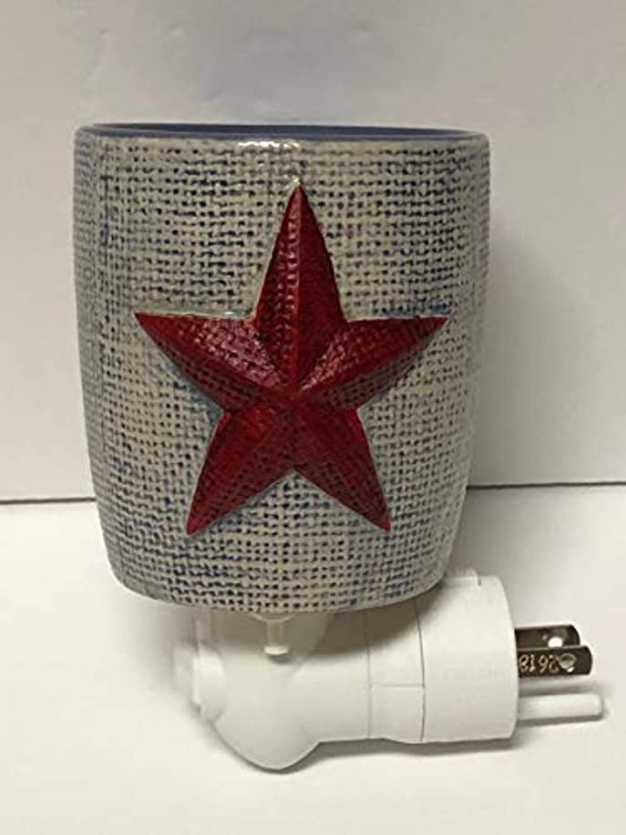 Scentsy Burlap Star Mini Night Light Plug in Warmer …
