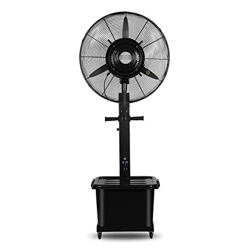 Ventilador de pie WSJ Swing Spray refrigerante de alto rendimiento multifunción 3 velocidades 10 horas capacidad 42 litros negro Ahorro de energía (tamaño: 810 mm), 810mm
