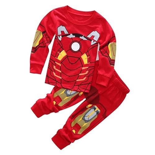 Amacigana Iron Man Pijamas para bebé, niños, largo, juego de pijamas de Spider-Man, ropa infantil...