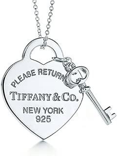 TIFFANY&Co. ティファニー ネックレス リターン トゥ ティファニー ミディアム ハート タグ & キー ペンダント  並行輸入品 (品番:639)