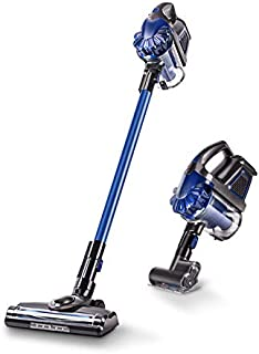 Cordless Vacuum, ZEK 2200mAh Lightweight Lithium 3 in 1 Cordless Upright Handheld Stick Vacuum Cleaner, Rechargeable Silent Powerful (Blue)