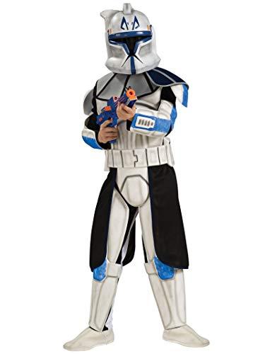 Deluxe Star Wars Captain Rex Kostüm für Kinder Gr. 110-116, Größe:S