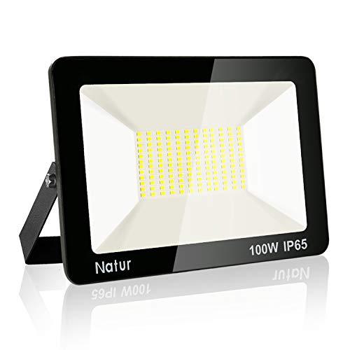 100W LED Foco exterior, 3000K Blanco cálido Impermeable IP65 Proyector Foco LED Luces de Seguridad Floodlight Led para jardín, garaje, fábrica[Clase de eficiencia energética A]