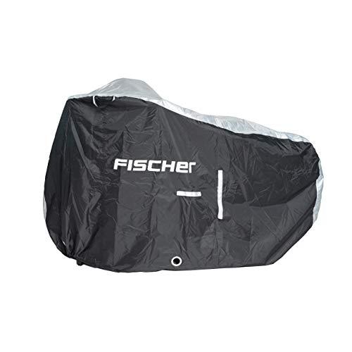 FISCHER E-Bike Garage Premium | Fahrradabdeckung | hochwertige E-Bike Abdeckung mit Öffnung für Ladekabel | Schutzhülle | Fahrrad Regenschutz wasserdicht | inkl. Aufbewahrungstasche
