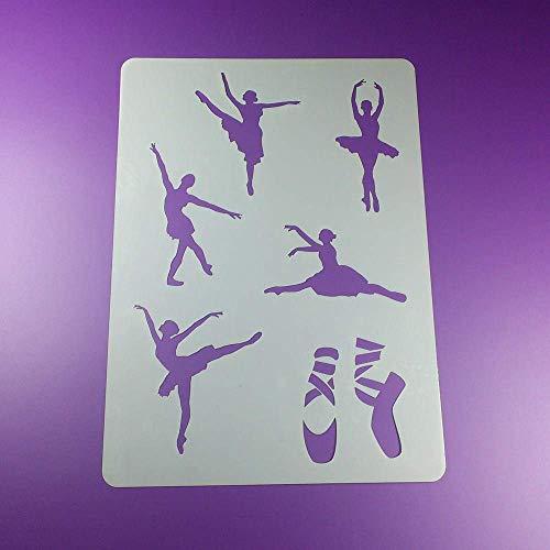 Schablone Ballerina Ballett 6 Motive - BA13