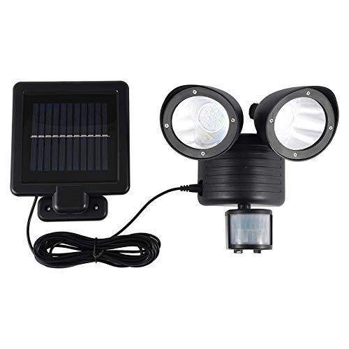 Luces ajustables de seguridad del sensor de movimiento, luces solares jardín al aire libre, luz de inundación LED regulable con área de iluminación más amplia, foco impermeable IP55 para garaje, patio