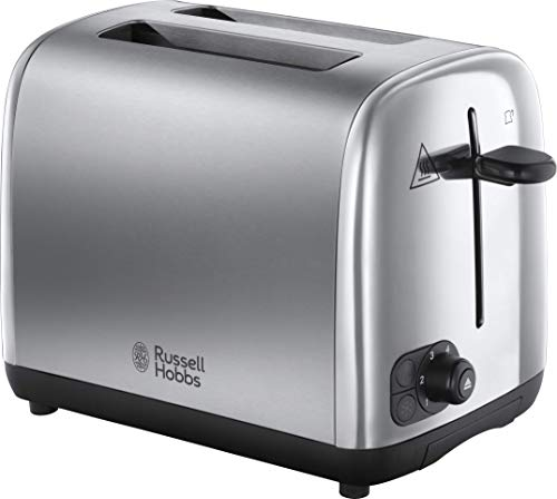 Russell Hobbs 24080 Adventure Two Slice Toaster, Stainless Steel, 2 Slice, Brushed and Polished