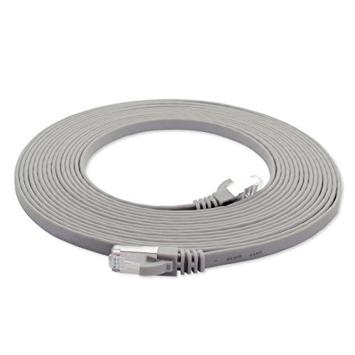 3m - CAT7 Cable de Red Plano Gris: Amazon.es: Electrónica