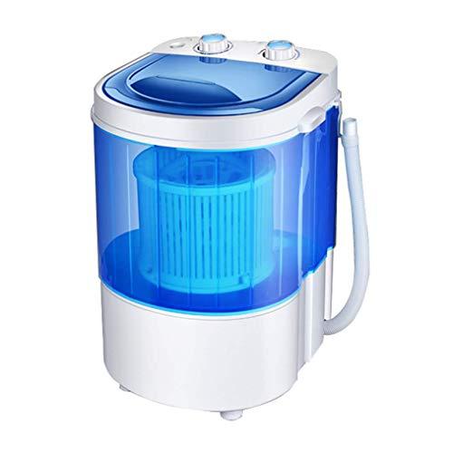 Unknow Secadora de centrifugadora Mini Lavadora para Camping, Capacidad de 3 kg, 260 W, para hogares Individuales y estudiantiles, bajo Nivel de Ruido, asa de Transporte, económica, Blanco/Azul