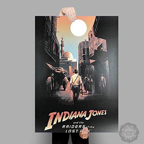 ysldtty Plakate und Drucke Indiana Jones Poster Adventure Classic Movie Leinwand Malerei Wandkunst Bild Home Decor E392 Rahmenlos 40cmx60cm