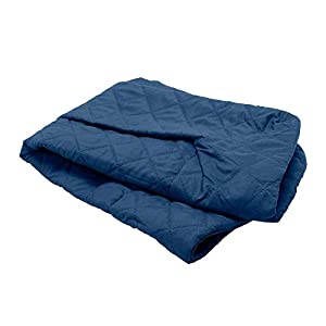 Furhaven Pet Dog Bed Cover – Quilted Traditional Sofa-Style Living Room Couch Pet Bed Replacement Cover for Dogs and Cats, Navy, Medium