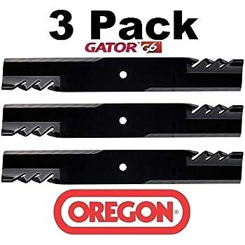 "6PK Oregon 396-730 G6 Gator Blades fits 60/"" Z-Trak 667 737 757 777 797 997"