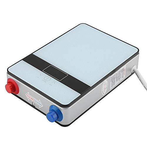 Riscaldatore di Acqua istantaneo, scaldabagno Elettrico istantaneo Sicuro Senza Serbatoio 220V 6500W con Display a LED per la Doccia del Bagno di casa