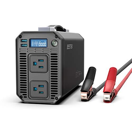 BESTEK 1000W Pure Sine Wave Power Inverter DC 12V to 110V AC Car Inverter with Digital LCD Display 4.2A Dual USB Charging Ports