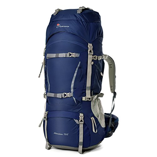 MOUNTAINTOP 70+10Liter Erwachsene Trekkingrucksäcke Camping Reisen Backpacking Backpacker Herren Damen mit Regenhülle