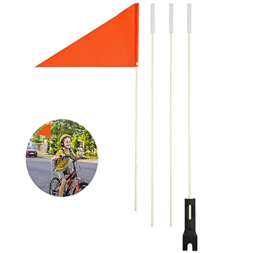 Melodip Sicherheitswimpel 150cm Fahrradfahne Fahrradwimpel für Kinderfahrrad Wimpel-fahrradwimpel (Rot)