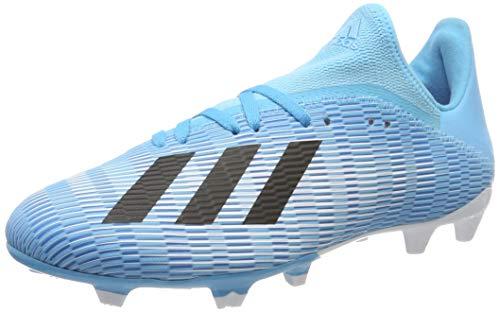 adidas Herren X 19.3 Fg Fußballschuhe, Blau (Bright Cyan/Core Black/Shock Pink Bright Cyan/Core Black/Shock Pink), 44 2/3 EU