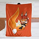 GACOZ-Chibi Rena Rouge- Ultra Soft Throw Blanket Flannel Fleece All Season Light Weight Living Room Bedroom Warm Blanket 50×40inch
