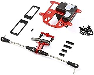 Part & Accessories CNC metal symmetrical steering kit fit for hpi Baja 5B SS 5T RC CAR PART - (Color: Red)
