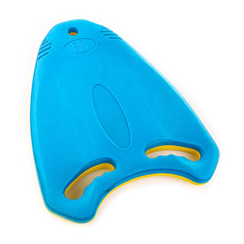 Go Kickboard Swimming Kickboard for Adults and Kids, Lightweight EVA Swim Board with Anti-Slip Smooth Edge and Integrated Hole Handle for Swim Lessons Swimming Training Aid, Blue