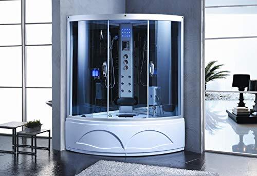 Trade-Line-Partner stoomdouche 135x135 cm incl. whirlpool + volledige uitrusting