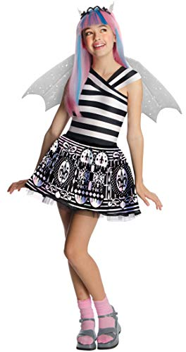 Monster High - Disfraz de Rochelle Goyle para niña, infantil 5-7 años (Rubie