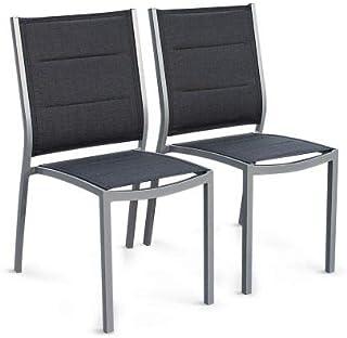 Amazon.fr : chaise jardin aluminium textilene : Jardin