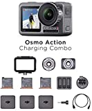 DJI Osmo Action Charging Combo - Cámara Digital con Kit de Accesorios Incluido, Pantalla Doble,...