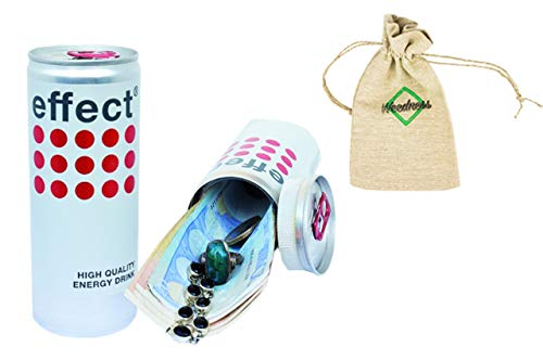 Weedness Effect Energy White Dosen-Safe - Dosentresor Versteckdose Geheimversteck Mini Tresor Strandsafe