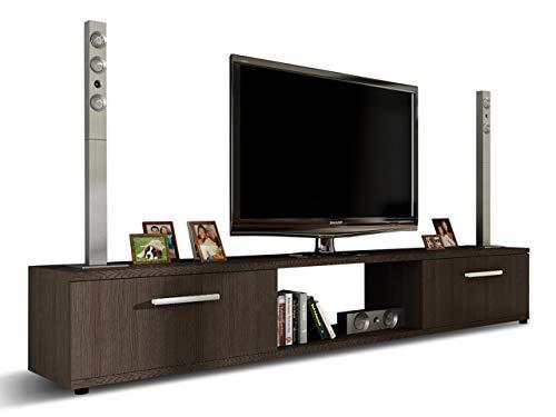 Mirjan24 TV Lowboard Board Horton I, TV Schrank, Tisch, Fernsehtisch B:176 cm, H:28 cm, T:40 cm, Fernsehschrank TV-Bank (Choco)