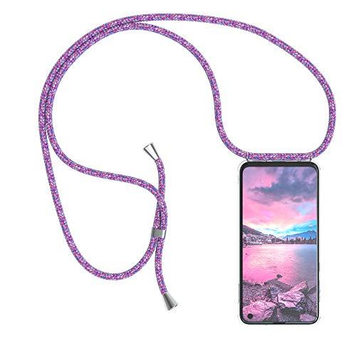 EAZY CASE Handykette kompatibel mit Samsung Galaxy S10e Handyhülle mit Umhängeband, Handykordel mit Schutzhülle, Silikonhülle, Hülle mit Band, Stylische Kette mit Hülle für Smartphone, Unicorn