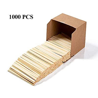 Bamboo coffee stir sticks 5.5inch 7.5inch disposable coffee stirring stick milk tea powder honey drink milk bamboo wooden coffe stir stick|1000pcs/box (5.5inch)