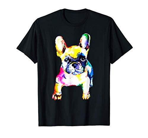 Colorful French Bull-dog Love-r Dad Mom, Boy Girl Funny T-Shirt