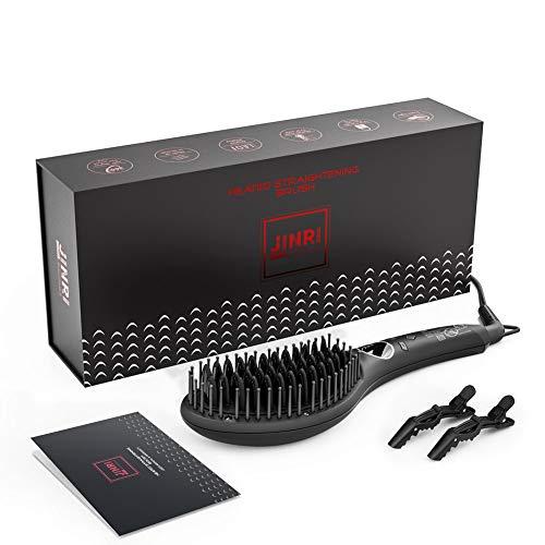 Professional Hair Straightener Brush, Fast Heating Hair Straightening...