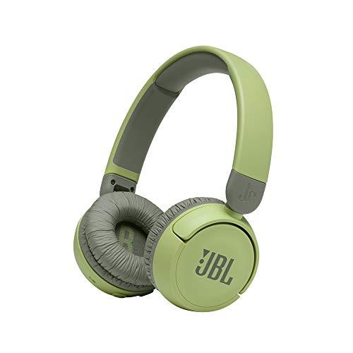 JBL JR310BT Cuffie Wireless per Bambini con Limitatore di Volume e Bluetooth, cuffie On Ear Senza Fili con Microfono, pieghevoli, leggere e Comode, fino a 30 h di Autonomia, Verde