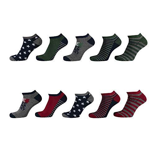 Lieblingsstrumpf24 10er Pack Socken Kinder Jungen Mädchen Baumwolle (Sneaker Socken Stern Mix 35-38)