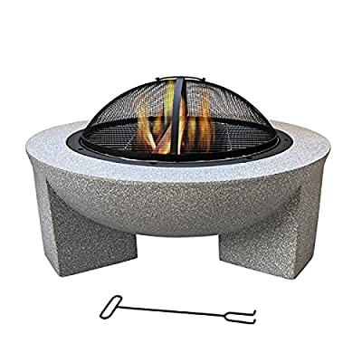 Fire Pit 30-inch Wood-Burning fire Pit, Wood-Burning Patio and Backyard fire Pit, for Outdoor Cooking Grill from Lijack