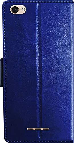 SBMS Xolo Pu Leather Flip Cover Wallet Case Cover for (Xolo Era 4X, Blue)