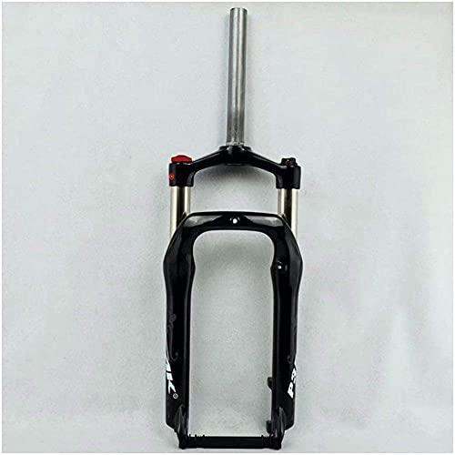Horquilla de suspensión para bicicleta, Horquilla delantera para bicicleta de 20 pulgadas para neumático de 4.0 'Aire 1-1 / 8' Freno de disco QR 9 mm Viaje 120 mm Bloqueo manual Snow Beach XC Bicicl