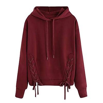 Londony ??? Clearance Sweatshirts for Women,Long Sleeve Simple Style Hoodie Sweatshirt Jumper Hooded Pullover